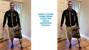 Rugby Legend Tommy Bowe gets iWALKing