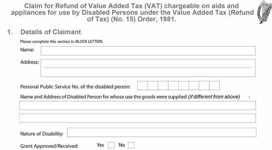 Reclaiming VAT On Disability Products