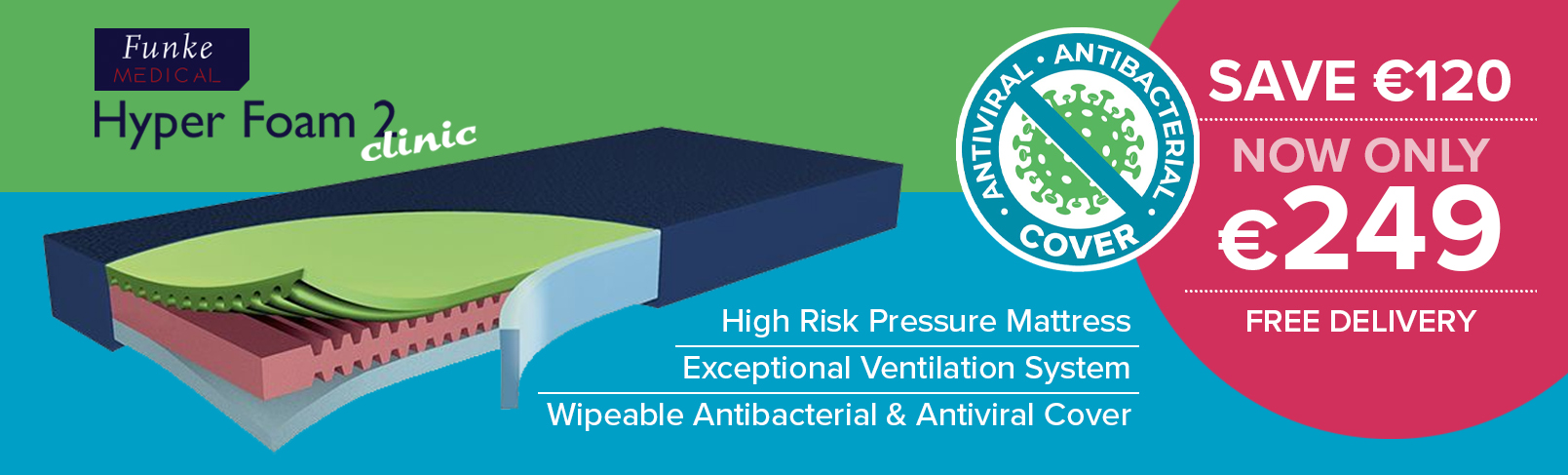 Antiviral Antibacterial Mattress Ireland